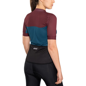 POC Essential Road SS Light Jersey Women polypropylene red/draconis blue